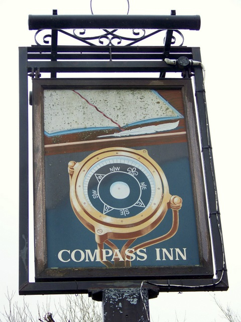 Sign for the Compass Inn