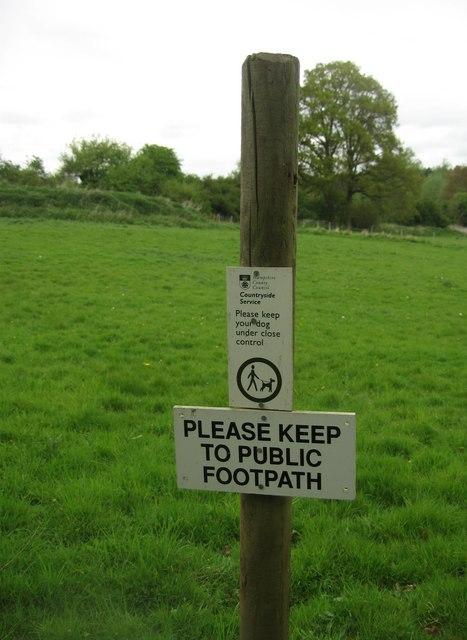 Please keep to public footpath