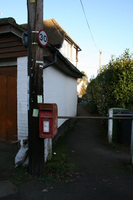 Postbox by the footpath
