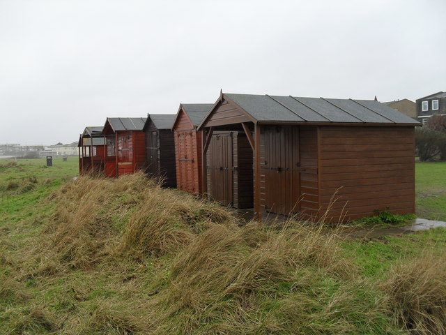 Beach huts on Broadmark Beach