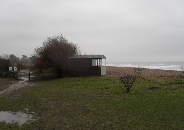A bleak scene on Broadmark Beach