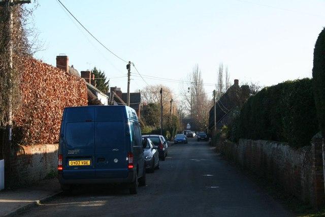 View down Brightwell Street