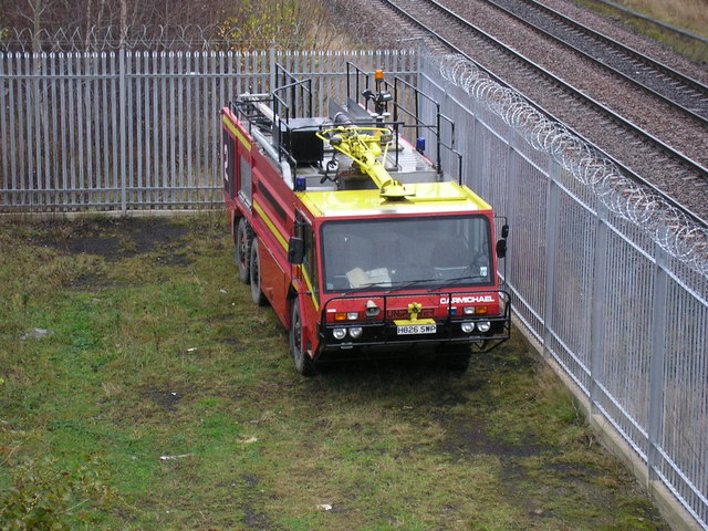 Fire Engine at  Angloco, Batley