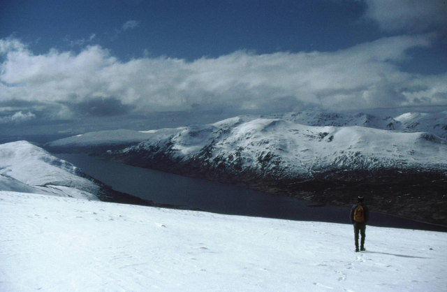 View from summit of Beinn Udlamain