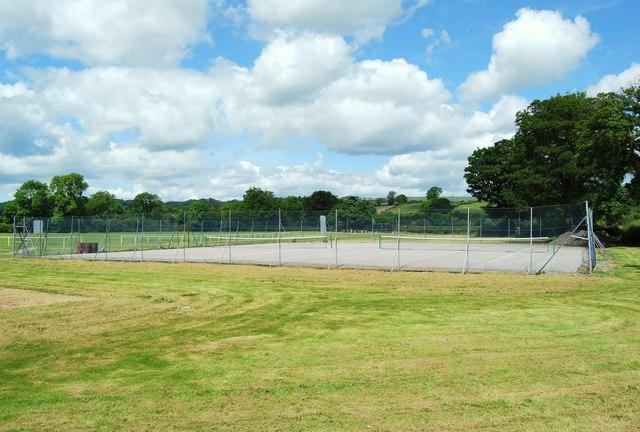 Tennis courts at Corwen