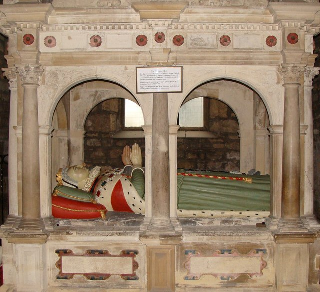The Worcester Tomb, St Mary's Priory church, Chepstow
