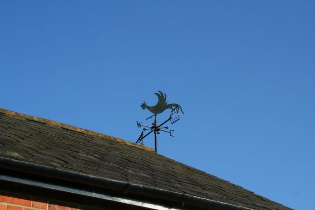 Weather vane on the roof