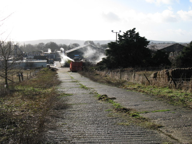Footpath through Sussex Mushroom Ltd