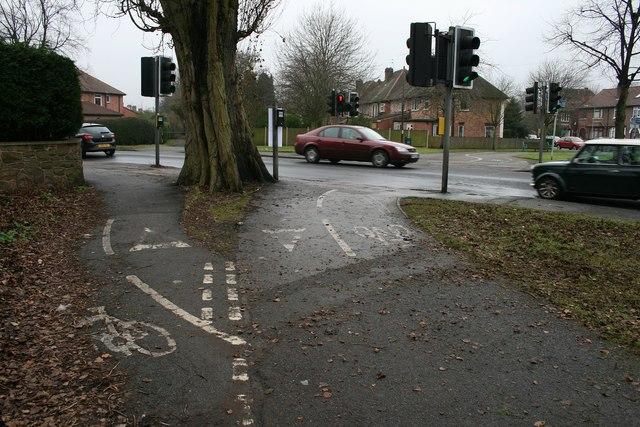 Cycle path markings