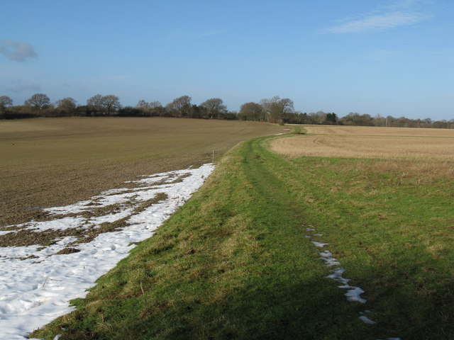 Bridleway connecting Thakeham with West Chiltington
