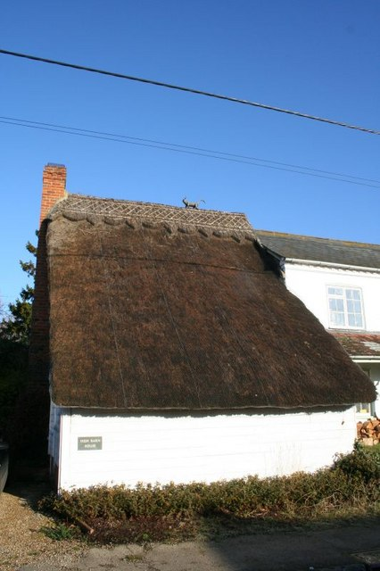 Thatched building on the street
