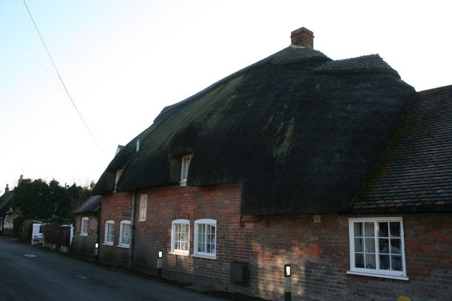Thatched house along Brightwell Street