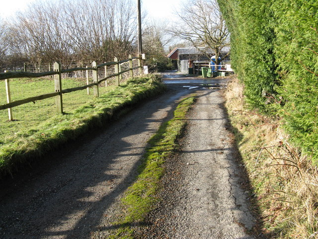 Footpath junction with Southlands Lane West Chiltington