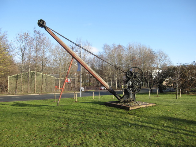 Railway crane at Ruthin Craft centre