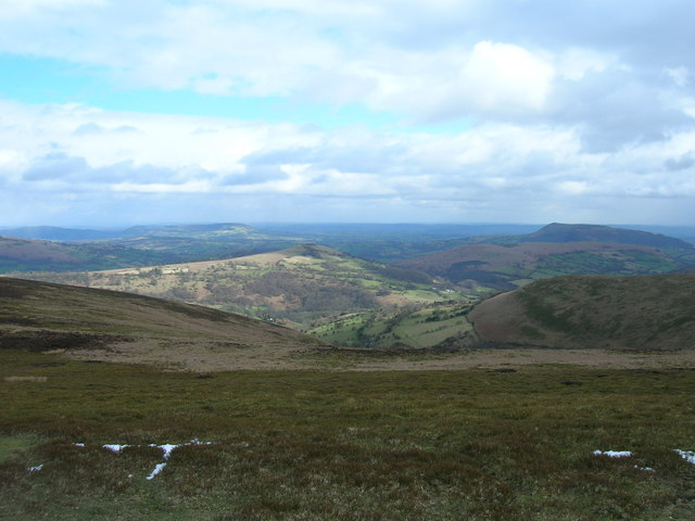 Gaer hill and the Skirrid from Crug Mawr