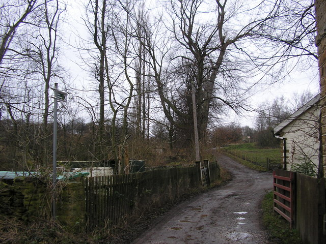 Footpath at the end of Lady Ann Road, Batley