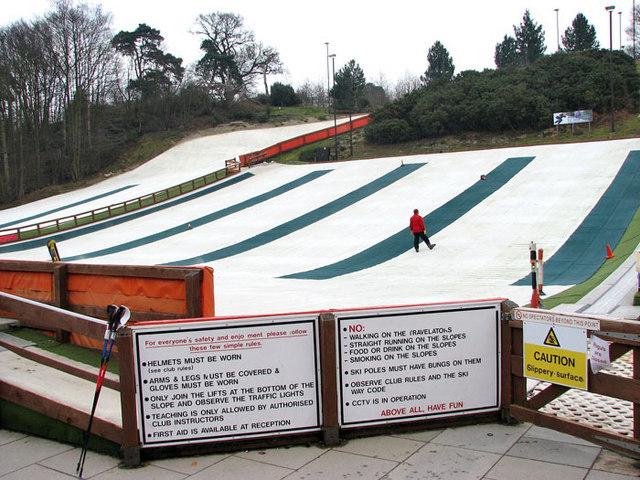 Ski slopes at the Norfolk Ski Club