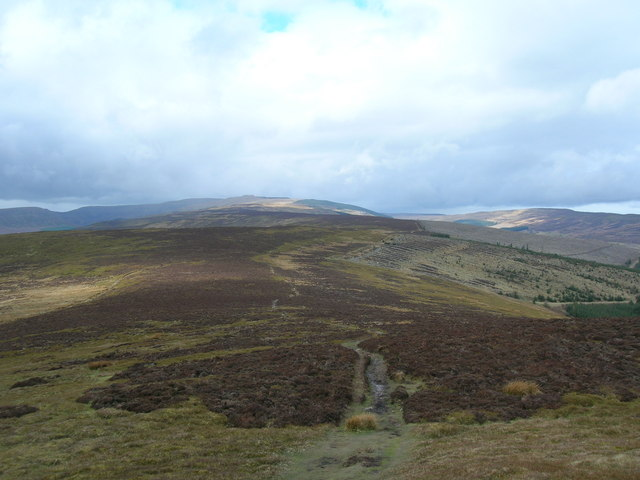 Looking north along the Pen Twyn Mawr ridge