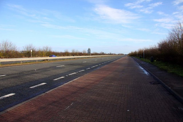 Lay-by on the A420