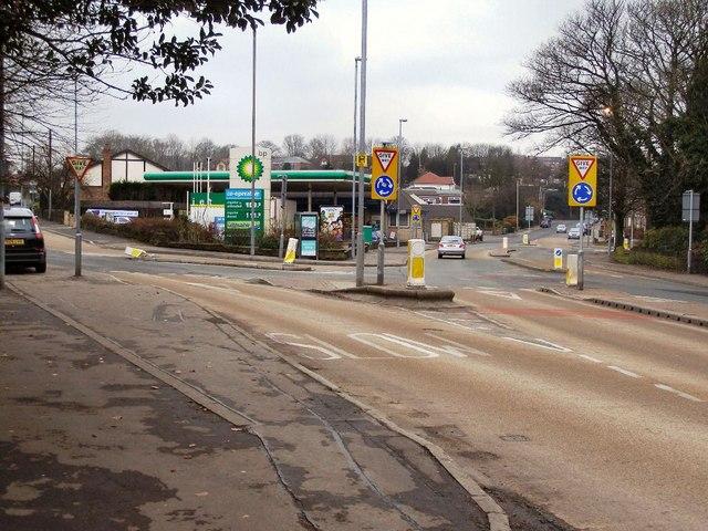 Edenfield Road junction with Bagslate Moor Road