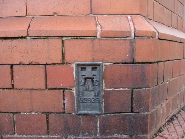 Flush bracket G2926 on Ruthin Post Office