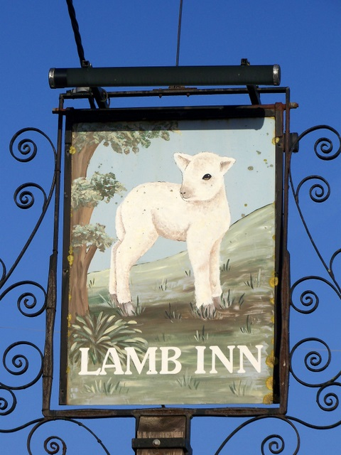 Sign for the Lamb Inn