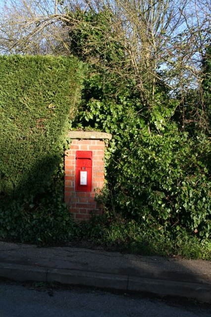 Postbox in the hedge