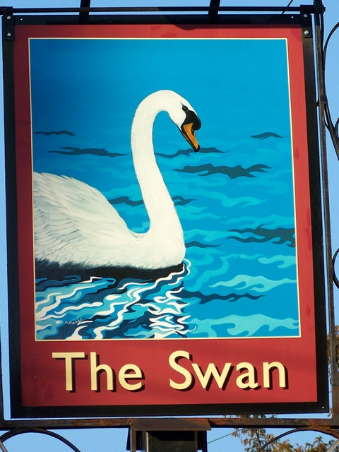 Sign for the Swan