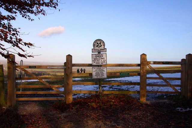 The gates to Whitehorse Hill
