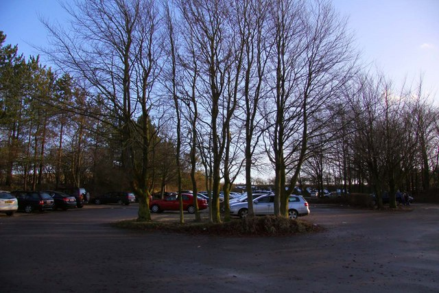 The car park at Woolstone Hill