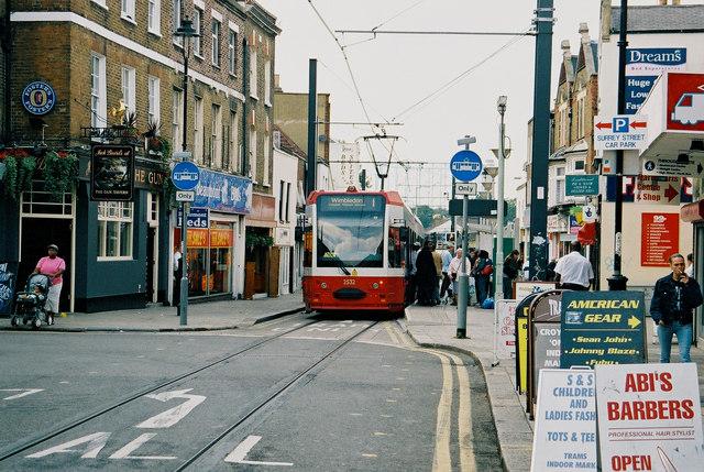 Croydon:  Church Street tram stop