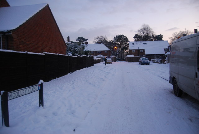 Snow, Woolley Close