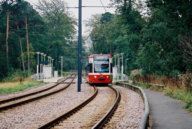 Croydon:  Coombe Lane tram stop