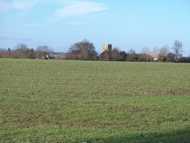 Farmland and church