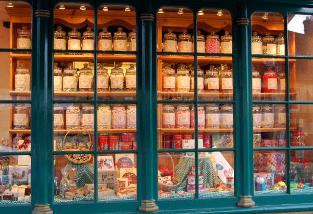 Traditional sweetshop window, Burford