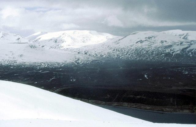 View from top of Beinn Udlamain