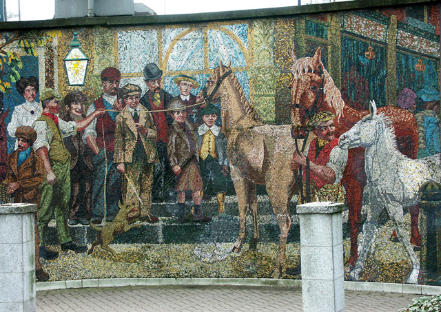 Detail of Horse Fair mosaic