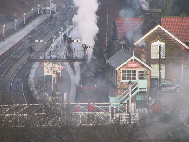 Raising steam at Grosmont.