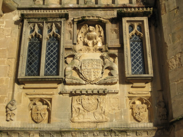 Coat of Arms, Penniless Porch, Wells