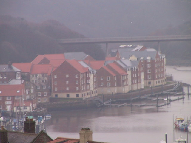 New development by the river, Whitby