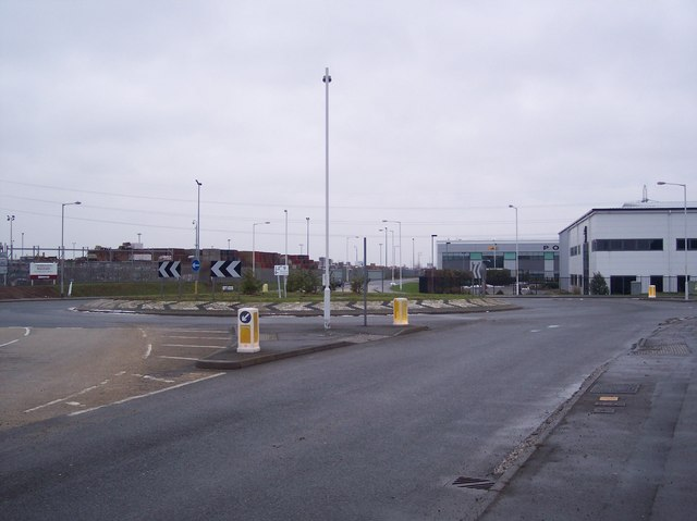 Roundabout on Castle Road