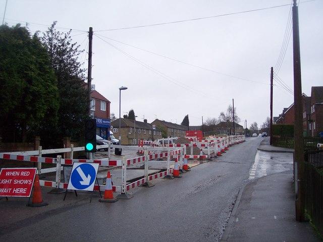 Road Works on Lower Road, Faversham (2)