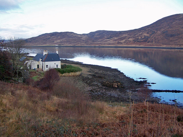 Former schoolhouse on the shore