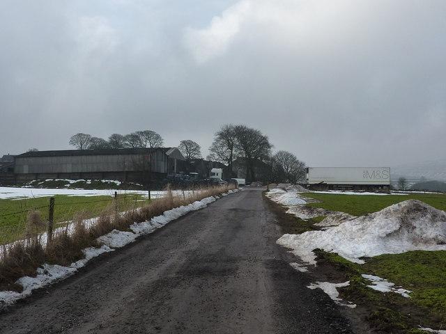 Approaching Foxlow Farm, Buxton