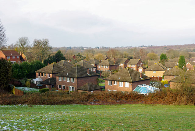 View over fringe of East Grinstead
