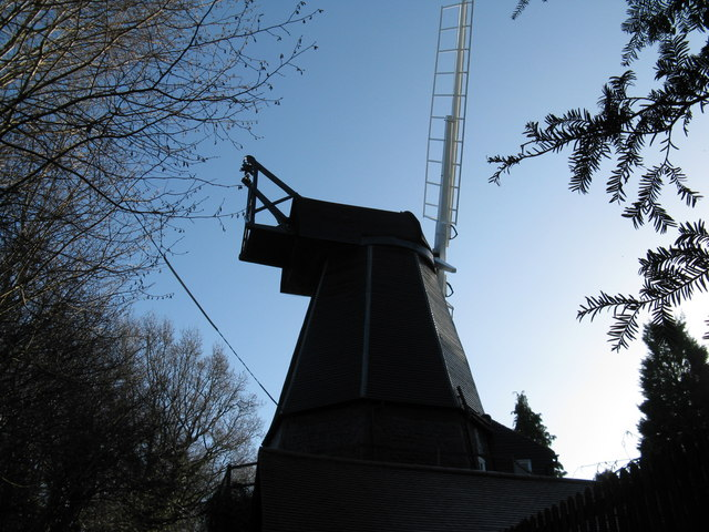 Renovated windmill near Nutborne