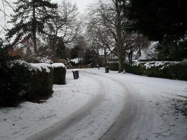 A snowy Shawfield Road