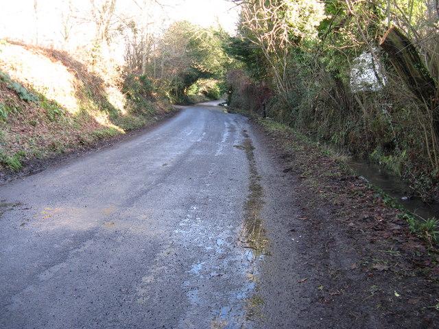 Stream Lane approaching West Chiltington