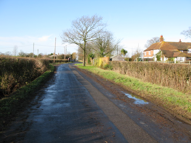 View along Bank Road towards Broad Oak
