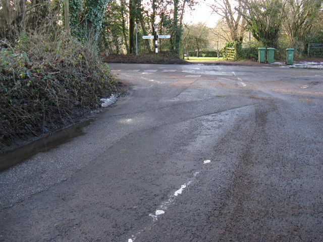 Stream Lane junction with Nutbourne Road